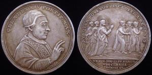 Médaille commémorant la suppression des Jésuites en 1773 par Clément XIV