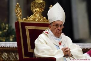 Le Pape François en la Basilique St-Pierre, 1er janvier 2014 Source: Guido Marini/Facebook
