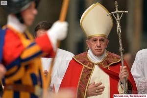 Le Saint Père lors de la messe de funérailles du cardinal Bartolucci le 13 novembre dernier