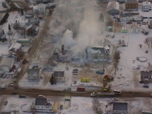 La Résidence du Havre, complètement détruite Source: La Presse