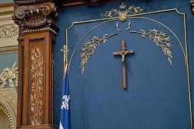 Le crucifix de l'Assemblée nationale à Québec