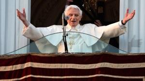 S.S. Benoît XVI, le jour de son départ avant le conclave de 2013