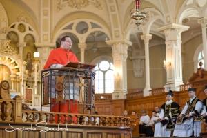 M. le cardinal Lacroix lors de la visite pastorale du 9 mars dernier Photo: Jacinthe Soulard