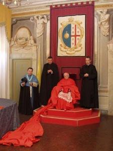 Son Éminence, le cardinal Cañizares Llovera en cappa magna