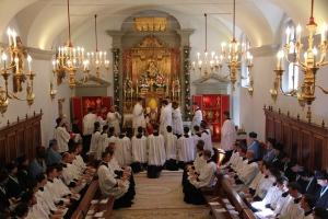 Dans la chapelle du Séminaire à Gricigliano le 1er juillet 2014