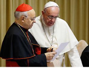 Le cardinal Baldisseri et le pape François