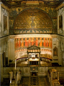 Intérieur de la basilique de Saint-Clément à Rome